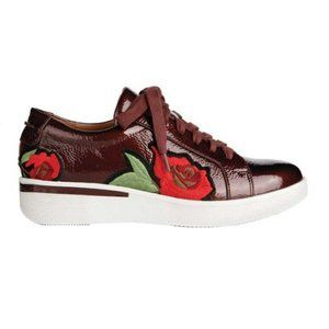 Gentle Souls Haddie Platform Sneaker Floral Patent